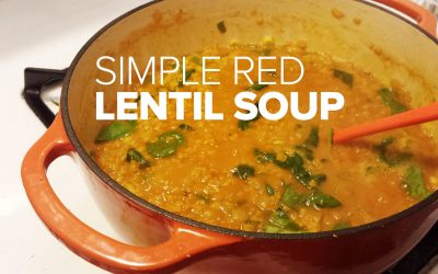 Simple weeknight red lentil soup